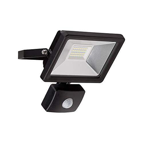 Goobay 58999 Faro da Esterno a LED con Rilevatore di Movimento, 20 W, Nero