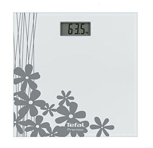 Tefal PP1070V0 Bilancia pesapersone Elettronica Quadrato Argento, Bianco bilance pesapersone