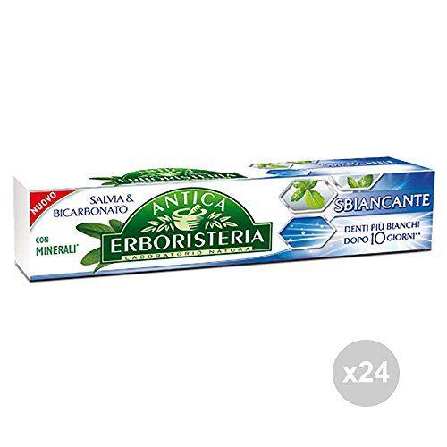 antica erboristeria set 24 dentifricio 75 sbiancante igiene dentale, multicolore, unica