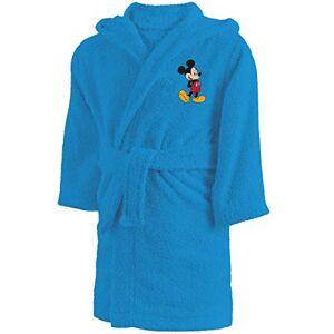 CTI Peignoir 6/8 Anni Disney Mickey Star, 100% Cotone bouclette, Blu