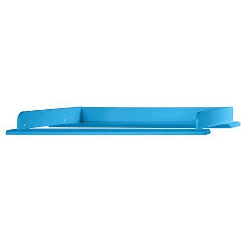 miami - fasciatoio 80 x 75 cm, adatto a comò, legno, blu metallizzato, 80,8 x 97.6 x 8 cm