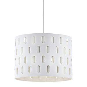 Eglo, lampada a sospensione Ronsecco, 1 lampada a sospensione moderna, in acciaio bianco, lampada da tavolo da pranzo, lampada da soggiorno con attacco E27,  38 cm