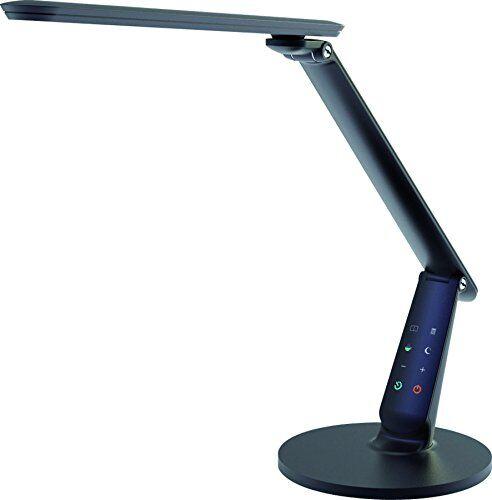 Aluminor Zig N Lampada da scrivania LED, Metallo/ABS, incasso, 10W, Nero