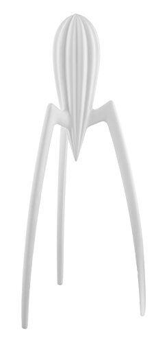 Alessi PSJS W Juicy Salif Spremiagrumi Manuale di Design, in Fusione di Alluminio, Bianco