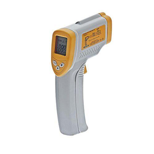 Decora Termometro a Infrarossi, Plastica da -50 a +280°, Grigio