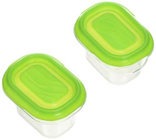 rotho-set di 2mini scatole frigo quadrato, 0.07l, verde mela tr.