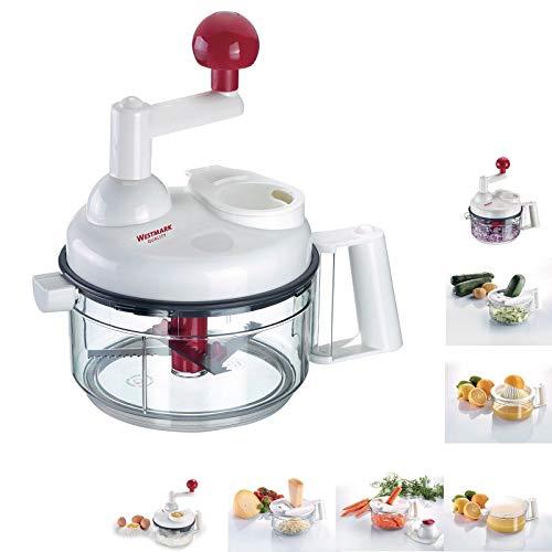 westmark 97142260robot da cucina, grigio/bianco/rosso