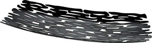 Alessi BM01 B Bark Centrotavola in Acciaio Colorato con Resina Epossidica, Nero