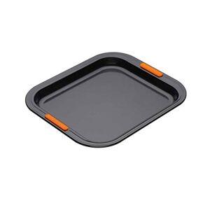 Le Creuset Teglia per Biscotti, Bordo Alto, 31 x 28 cm, PFOA Free, Resistente alle Sostanze Acide, Finitura in Acciaio al Carbonio, Antracite/Arancione