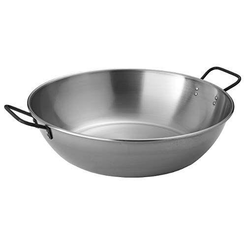 muurikka - padella per wok in acciaio, 50 cm, per barbecue, campeggio, gas, elettrico, a fuoco aperto
