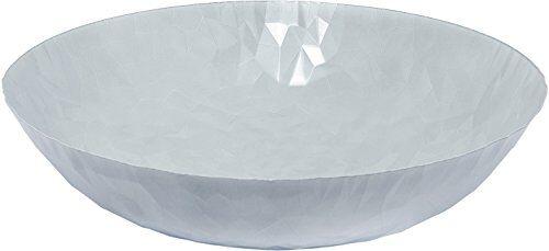Alessi CR01/37 W Joy n.1 Centrotavola, Acciaio Colorato con Resina Epossidica, Milky White, Bianco