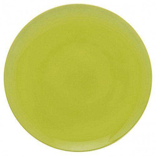 guy degrenne 207727 modulo - servizio da 6 piatti, in porcellana, 27,2 x 27,2 x 1,3 cm, colore: verde