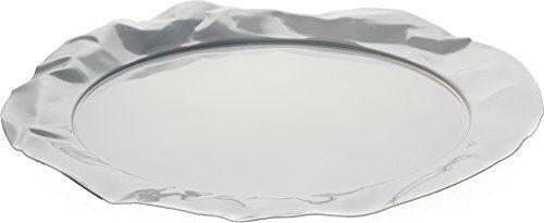 Alessi 90039 W Foix Vassoio Rotondo in Acciaio Colorato con Resina Epossidica, Milky White
