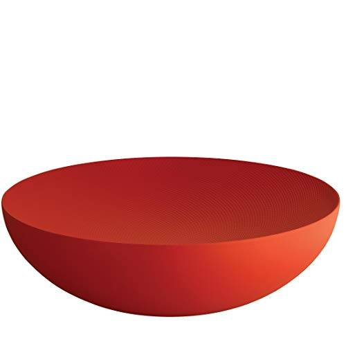 Alessi Double Ciotola, Acciaio Colorato con Resina Epossidica, Rosso, 10 x 34 x 33