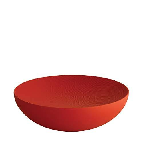 Alessi Double Ciotola, Acciaio Colorato con Resina Epossidica, Rosso, 8 x 27 x 25