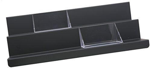 Alessi ASH02 B V Tray Vassoio Multiuso, Acciaio Colorato Epossidica/Resina Termoplastica, Super Black