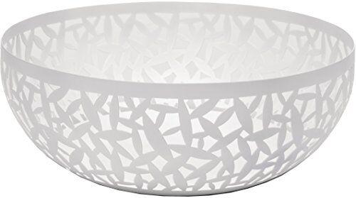 Alessi Cactus MSA04/21 W Centrotavola Portafrutta Traforato di Design, in Acciaio Colorato e Resina Epossidica, Bianco