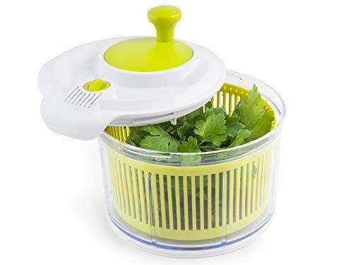 h&h tf904 lavasciuga insalata bianco/verde 16,5 utensili da cucina, plastica