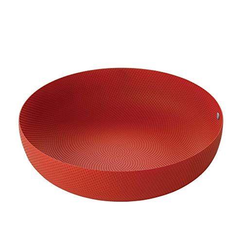 Alessi Cesto rotondo Alessi, Acciaio colorato con resina epossidica, Rosso, 29