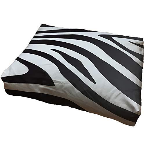 zanvic - cuccia per cani zebra, 60 x 90 cm, motivo: animali