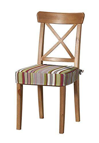 Dekoria Cuscino da Seduta Adatto al Modello Ikea Ingolf Rivestimento, per Sedia, Adatto al Modello Ikea Ingolf Multicolore