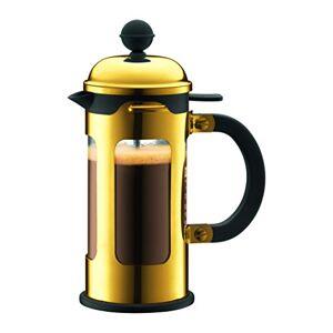 Bodum, Caffettiera in vetro borosilicato per 3 persone, 0,35 litri, Oro (Oro)