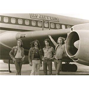 Heart Rock Bandiera Originale LED Zeppelin Airplane, Tessuto, Multicolore, 110x75x0.1 cm