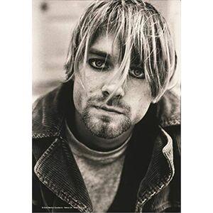Heart Rock Bandiera Originale Kurt Cobain Suicide, Tessuto, Multicolore, 110x75x0.1 cm