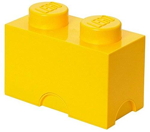 lego storage - contenitore 2, piccolo, plastica, yellow, medium