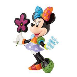 Enesco 4058181 Minnie Mouse con Fiori, 21 cm, Resina, Multicolore, 19x19x21 cm