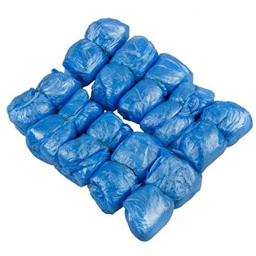 michaela blake 100 paia di monouso copriscarpe stivali e scarpe impermeabili durevoli non coprono cliniche slittamento medici, laboratori e costruzione di ospedali, lavoro, interno tappetini (blu)
