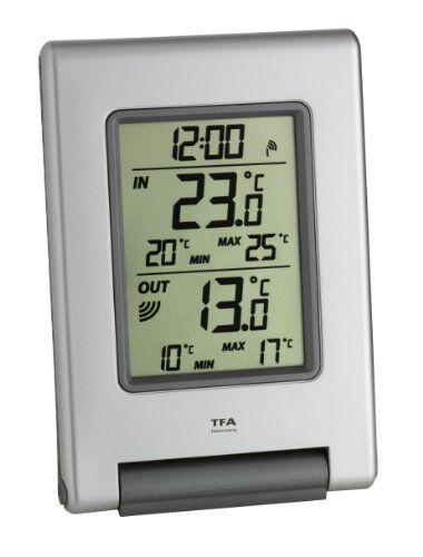 TFA Dostmann, Termometro Radio Easy Base, 30.3050.54