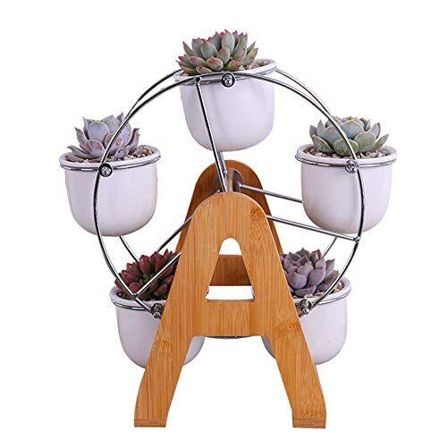 y&m(tm) 6vaso di fiori, y & m (tm) metallo ruota panoramica scultoreo vaso con corrispondenza vasi