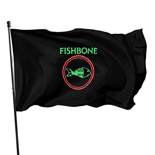 Oaqueen Bandiera Fishbone Retro Punk Rock And Roll Band Bandieras Outdoor House Flag Decoration Flag 3x5 Ft