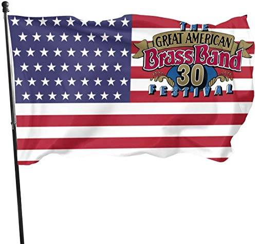 anemone store Bandiera Americana Fly Breeze 3x5 Foot - Great American Brass Band Festival