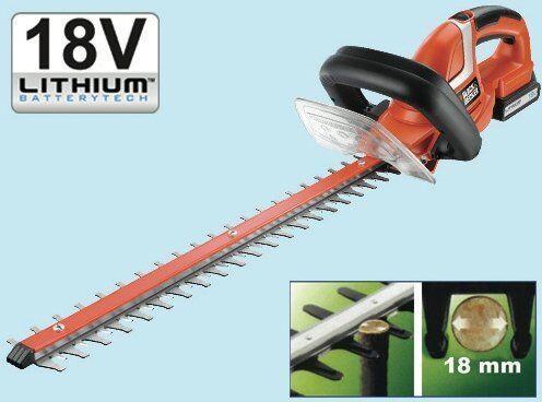 tagliasiepi taglia siepe b&d gtc 1850 l batteria 18v lama 50cm utensili giaridno