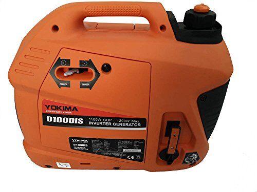 yokima generatore di corrente silenziato -1200 w portatile inverter ultima generazione presa usb tensione 230v 16a silenzioso 56 db alimentazione benzina 4 tempi adatto auto camper campeggio