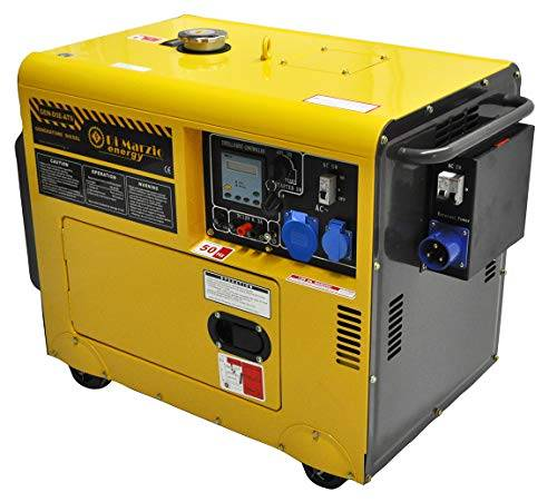 di marzio energy generatore di corrente diesel 4.5 kw - gruppo elettrogeno silenziato - avviamento elettrico automatico ats