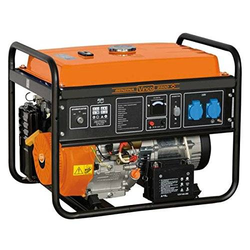 vinco 60131 generatore di corrente, 2.7 kw, nero, 60x43x46 cm