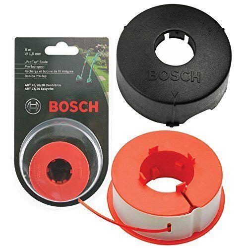 Bosch Genuino Bosch ART 23 26 30 Combitrim EASYTRIM Strimmer / Grass Trimmer Pro-Tap Automatico Spool Linea + Cover (8m, F016L71088 + F016800175)