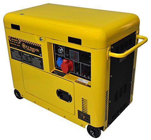 di marzio energy generatore di corrente diesel 6 kw trifase silenziato - gruppo elettrogeno avviamento elettrico