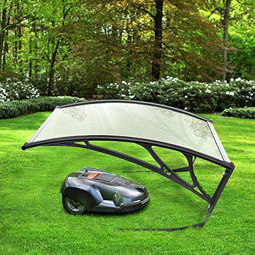 yifaa garage per robot tagliaerba, copertura di garage per robot tosaerba carport, garage per tosaerba tagliaerba 100x78x50cm (trasparente)