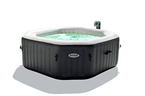 Intex 28414 Pure Spa Bubble Therapy Esagonale con Pompa, Riscaldatore e Sistema Purificazione Acqua, 201 x 71 cm, I.1, PVC