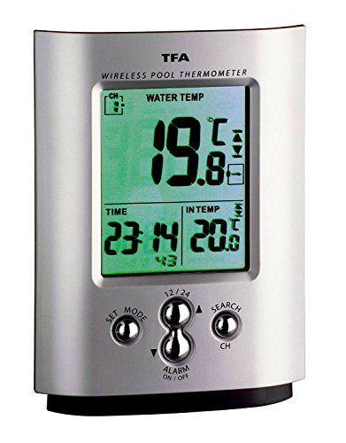 TFA Dostmann Termometro da piscina Radio MIAMI Wetterladen TFA 30.3033.99Termometro da piscina