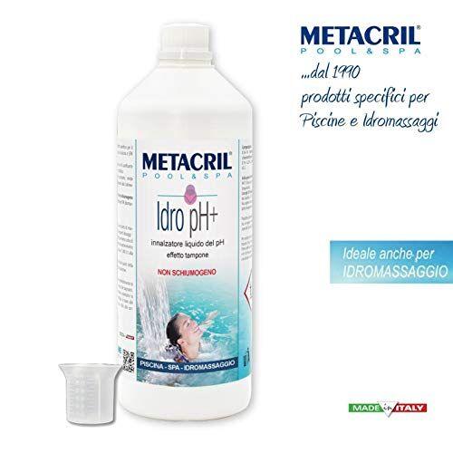 Metacril 1 Lt. Innalzatore del PH dell'Acqua Liquido + Dosatore. Idro PH+ 1 Lt. per Piscina o Idromassaggio (Teuco, Jacuzzi,Dimhora,Intex,Bestway,ECC.) Spedizione IMMEDIATA