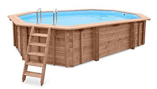 profillment-vertrieb giardino piscina sea breeze, piscina e erdeinbau, legno, laengliches piscine, 6,07x 3,96x 131cm, pompa, scaletta per piscina, skimmer