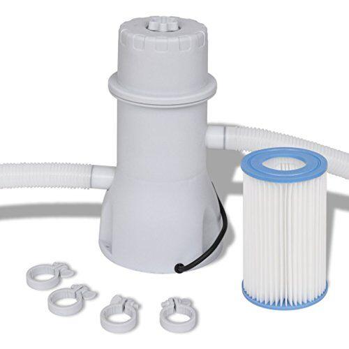 vidaxl pompa con filtro piscina 3785l/h filtrante acqua depuratore da giardino