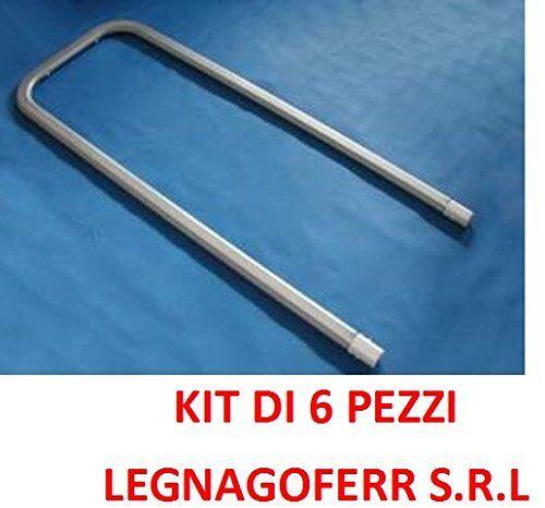 LEGNAGOFERR S.R.L LEGNAGOFERR - PZ.6 INTEX 10937 SUPPORTI A  U  PER PISCINE ULTRA FRAME RETTANGOLARI 975/732/549 H.132CM CAPPUCCI INCLUSI INTEX STORE