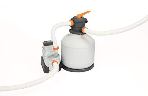 Flowclear Bestway Pompa di Filtraggio a Sabbia Flowclear 58486, Portata 9.800 L/H per Piscine Fuori Terra