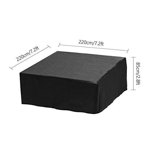 vovey - copertura per vasca idromassaggio, anti-uv, antipolvere, resistente, impermeabile, resistente alle intemperie, protezione completa, per esterni, quadrato, per spa